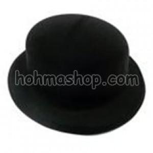 Шляпа Казанок чорний флок