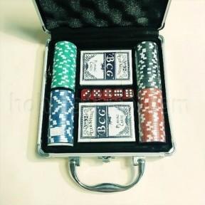 Покер в кейсі 100 керамічних фішок