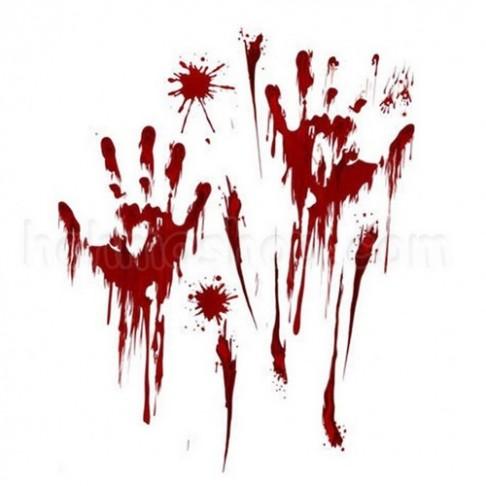 Наклейки криваві Руки
