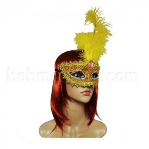 Венеціанська маска Летиція 30 см (золота)